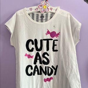 🥳 2/$30 bundle! Girl's Cute as Candy T-shirt